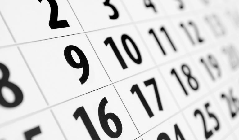 числа в календар за падежна дата на кредит